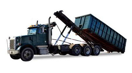Long Beach dumpster rental truck